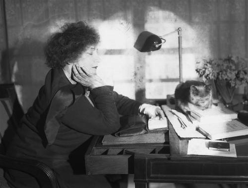 Colette and her cat