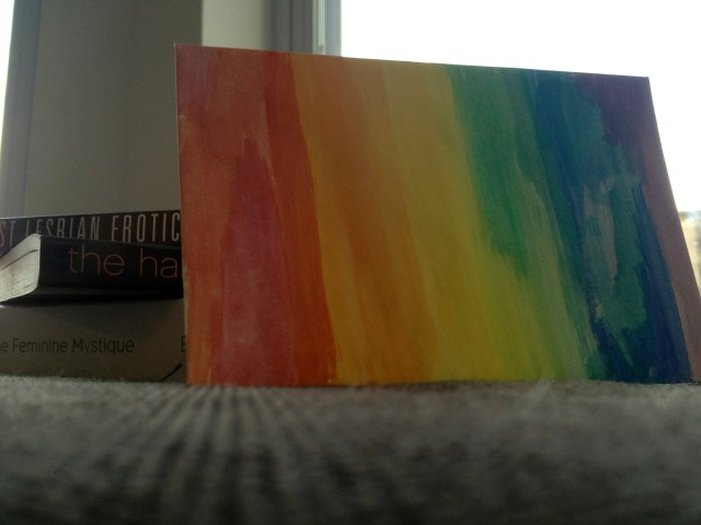 super gay rainbow envelope