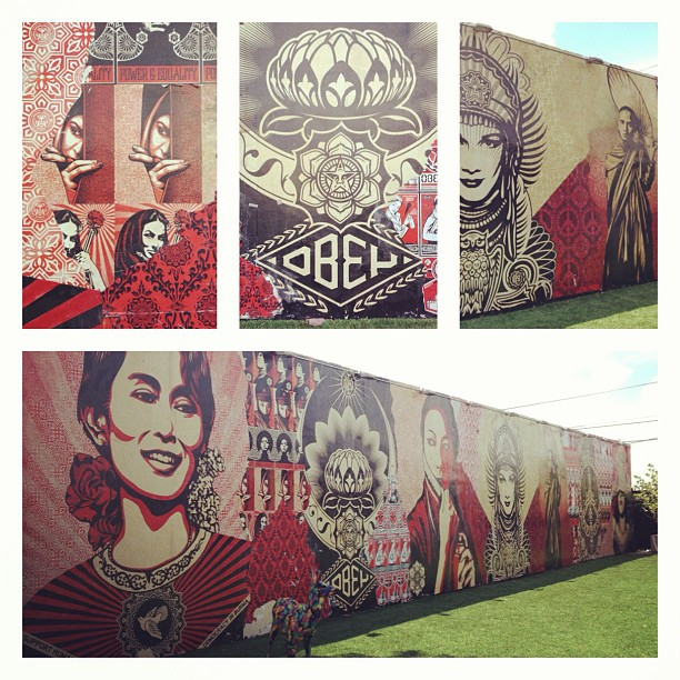 Shepard Fairey art in Wynwood Restaurant