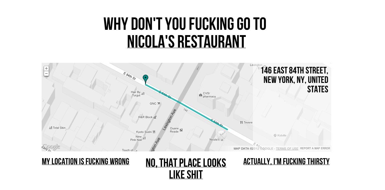 fucking nicolas restaurant