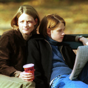 JODIE FOSTER IN NY FOR 'PANIC ROOM' FILM SHOOT.