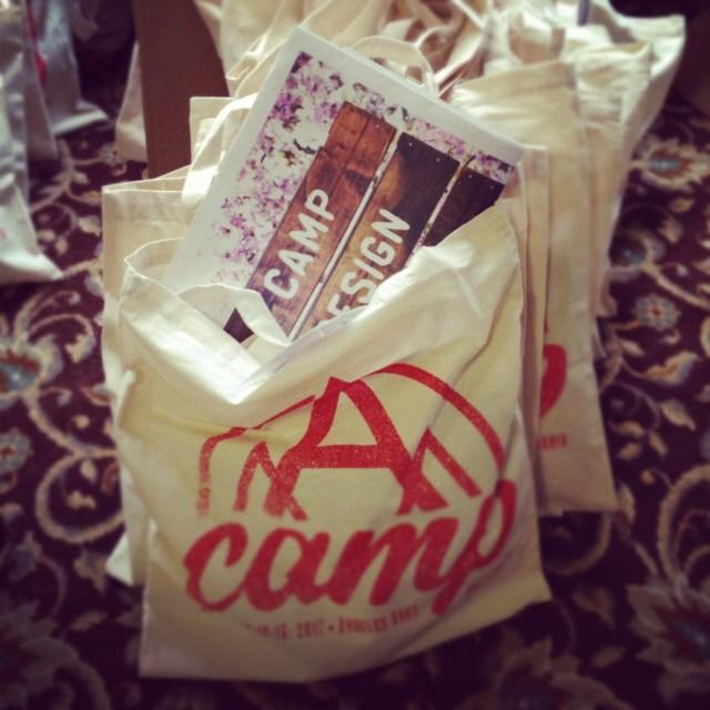 september 2012 a-camp gift bags w/design*sponge newsletter
