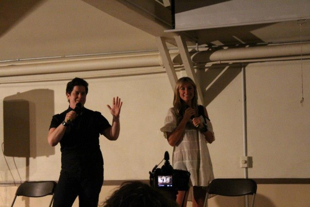 julie & brandy hosting the talent show