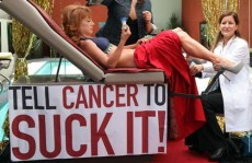 Here's Kathy Griffin getting a pap smear by a pool. See? It's not so bad to get one inside a private doctor's office. via hotelchatter.com