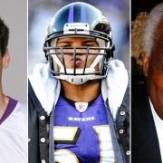 L-R: Chris Kluwe, Brendon Ayanbadejo and Emmet C. Burns, Jr.