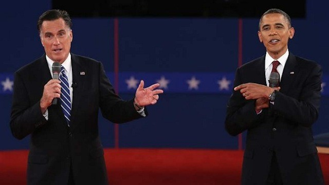 Barack Obama And Mitt Romney Participate In Second Presidential Debate