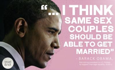 Obama and same sex marrige