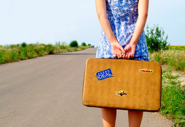 woman suitcase