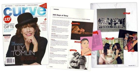 Curve Magazine Autostraddle Calendar Feature