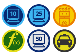 The virtual badges from Code Academy via z1g1.net