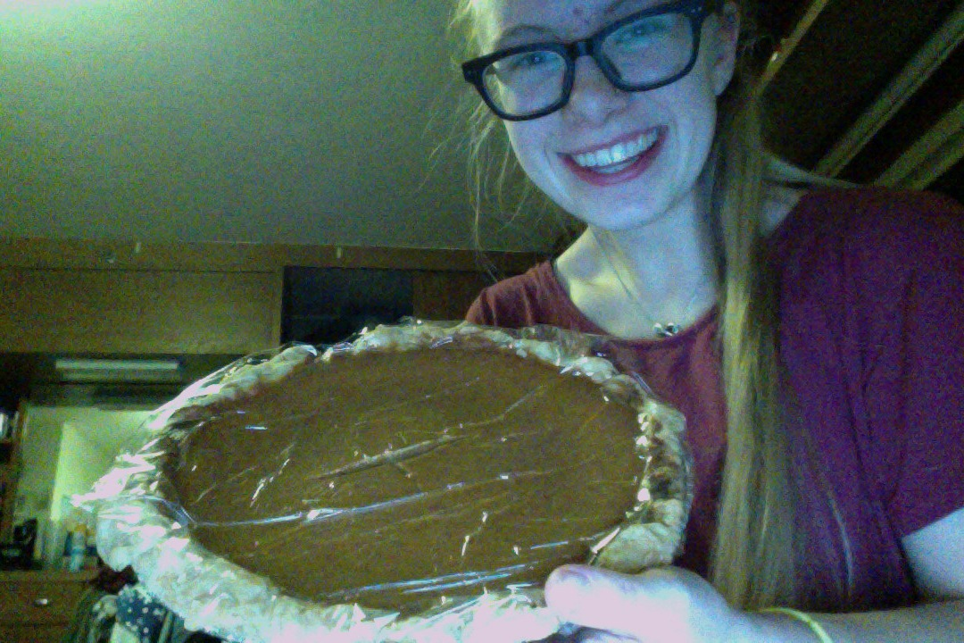 I made four pumpkin pies for Thanksgiving!