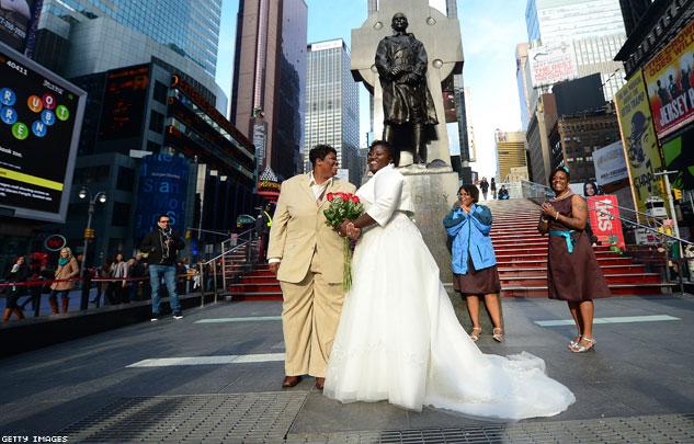 renee chris wiley wedding times square
