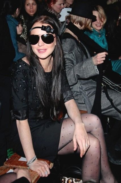 LINDSAY LOHAN AT A RUNWAY SHOW MARCH, 2010