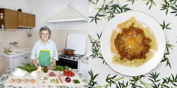 Marisa Batini, 80 years old from Castiglion Fiorentino, Italy. Swiss chard and ricotta Ravioli with meat sauce. Photo credit: Gabriele Galimberti