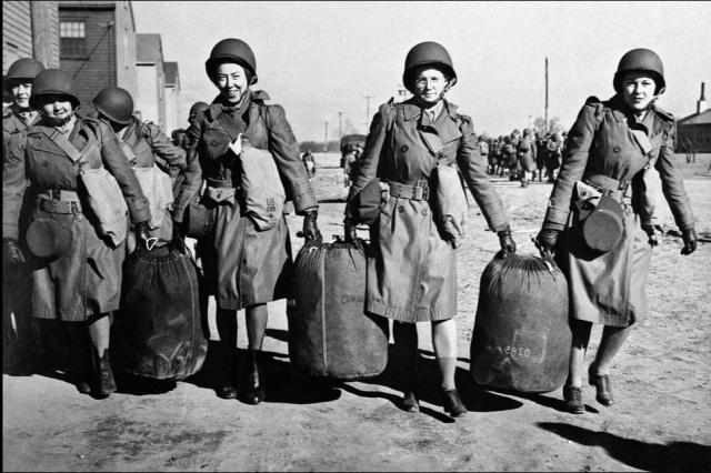 THE FIRST DETACHMENT OF THE WOMEN'S AUXILIARY ARMY CORPS LEAVES FOR NORTH AFRICA IN 1943 {VIA NPR}
