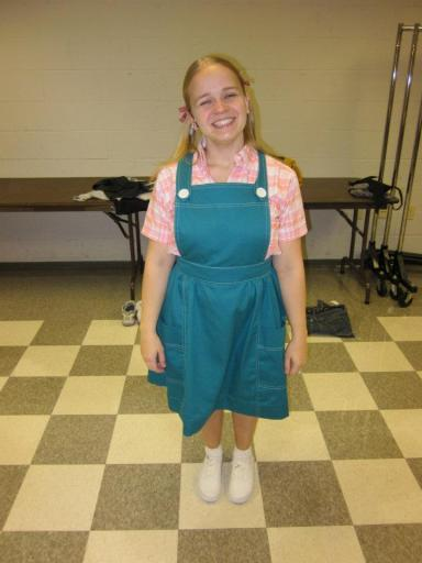 Maggie Keenan-Bolger perfecting her inner 9-year old in a Theaterworks production of Charlotte's Web (actual age, 28)