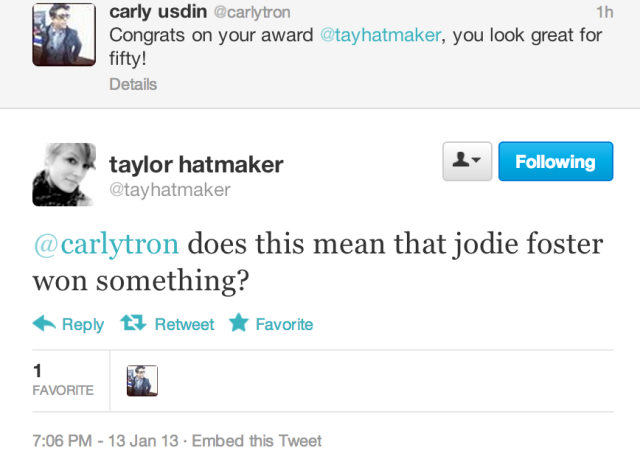 JODIE FOSTER LOOKS LIKE TAYLOR