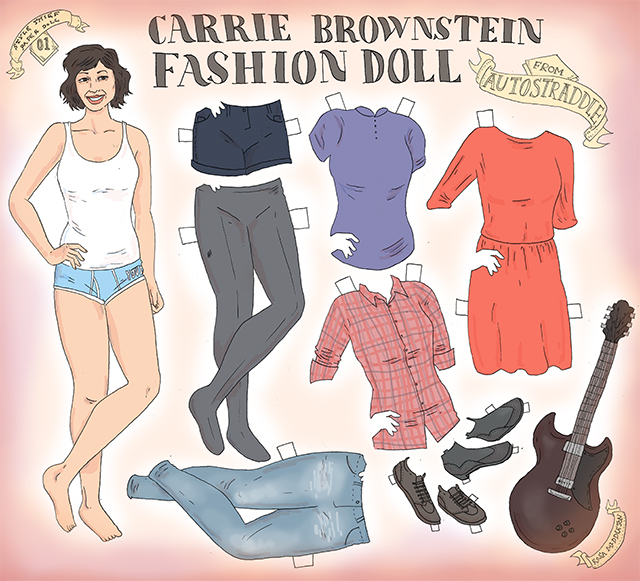 carrie brownstein_paper doll