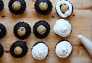 Get Baked: Chocolate Peanut Butter Cookie Dough S'more Cupcakes