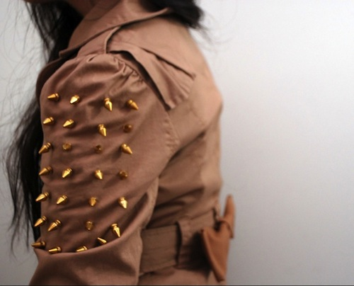 diy spiked bow trench
