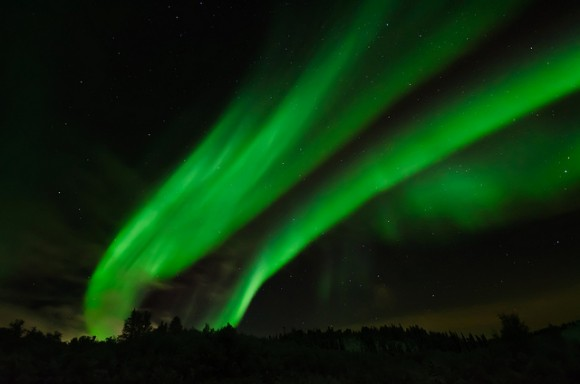 via universetoday.com Northern Lights over Saskatoon, Saskatchewan