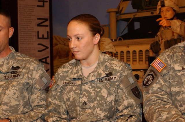 SERGEANT LEIGH ANN HESTER IS THE FIRST WOMAN SINCE WORLD WAR II TO BE AWARDED THE SILVER STAR FOR COMBAT VALOR