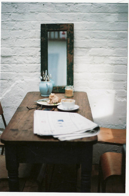 table-with-paper