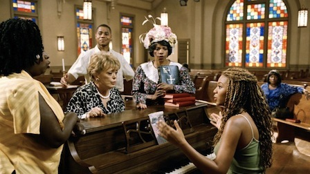 In The Fighting Temptations, Beyoncé plays a bar singer-turned-gospel headliner, exploring the gospel's relationship with immorality and acceptance in the process.