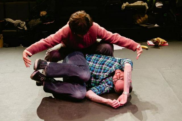 Cole getting born during rehearsal