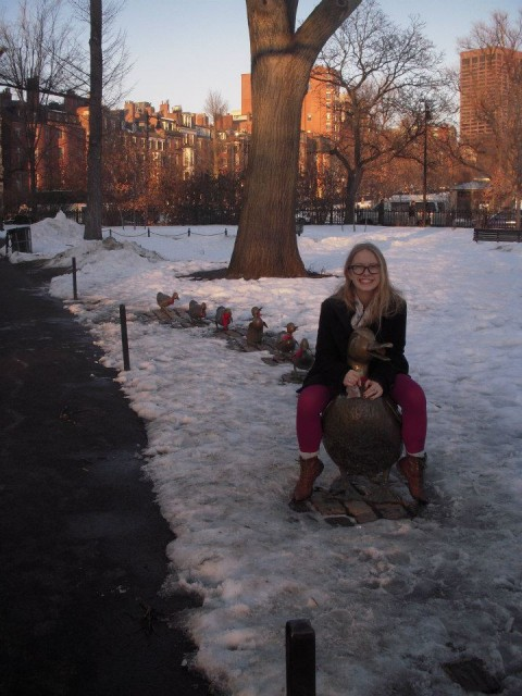 Kate on ducks