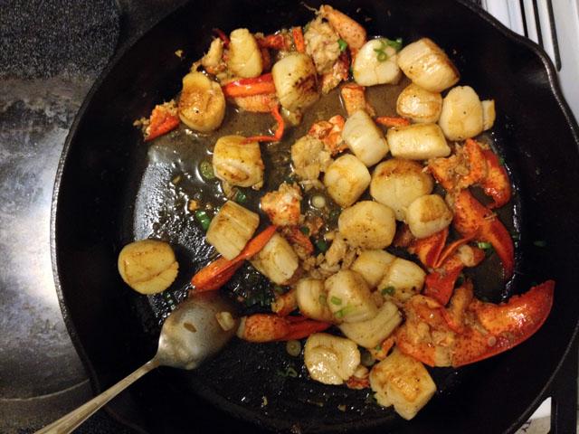 cast-iron-scallops-lobster