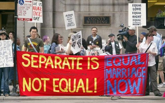 Supporters Of Same-Sex Marriage Hold Rally In Chicago