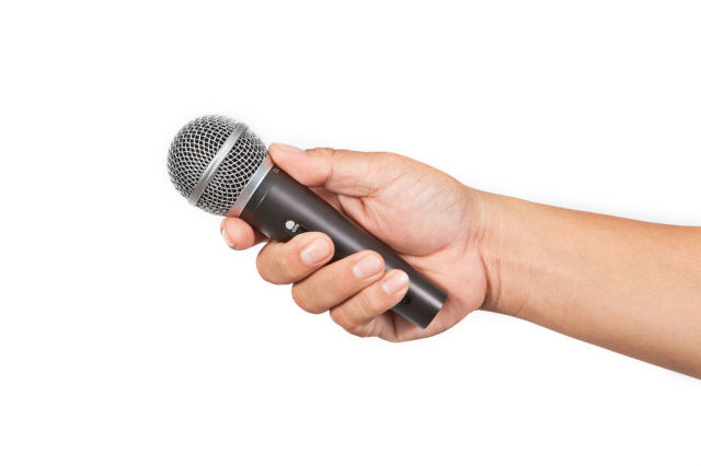 microphone via shutterstock