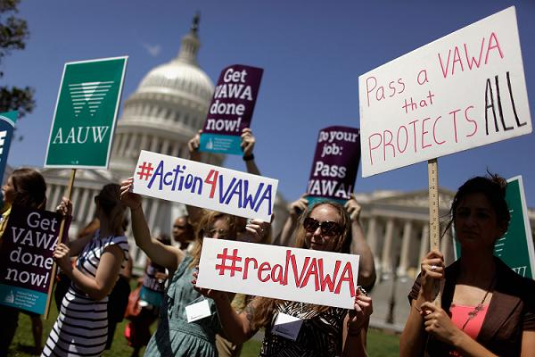 Activists Holds Rally For Re-Authorization Of The Violence Against Women Act