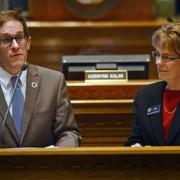 """House Speaker Mark Ferrandino, D-Denver, left, and Rep. Sue Schafer, D-Wheat Ridge, both gay, sponsored Senate Bill 11, allowing same-sex couples to form civil unions."" via {The Denver Post}"