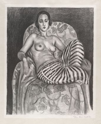 """""""LARGE ODALISQUE WITH STRIPED PANTALOONS"""" BY HENRI MATISSE, 1925 {VIA MOMA}"""