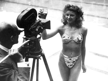 MICHELINE BERNARDINI WAS THE FIRST WOMAN TO MODEL A BIKINI, AFTER SHE REMOVED IT FROM THE MATCHBOX IT CAME IN