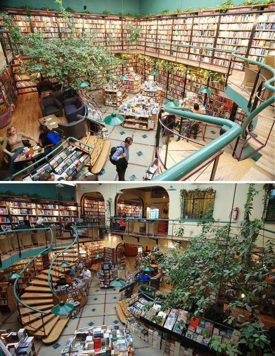 Cafebreria El Pendulo, Mexico City, Mexico via pinterest