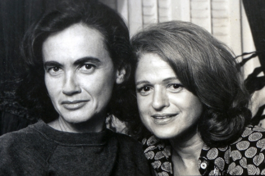 edie windsor, plaintiff in the DOMA lawsuit United States v. Windsor, pictured with her wife thea spyer