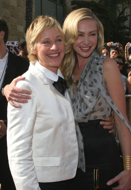 Ellen Degeneres is 55, Portia De Rossi is 40, and they're totes in love