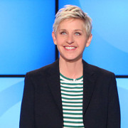 that striped shirt really makes your eyes pop, ellen