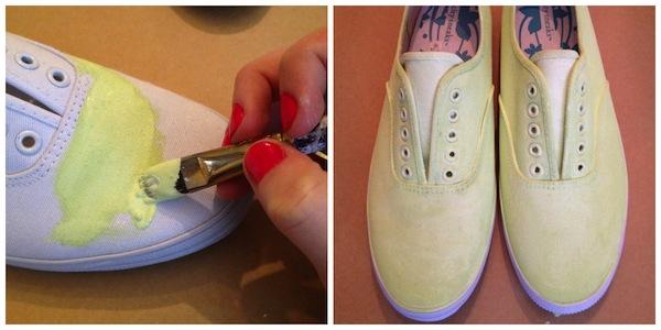 painting sneakers