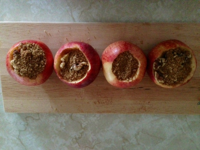 Apples stuffed with goodness!