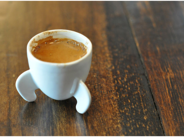 rocket espresso cup via Isohedral on Shapeways