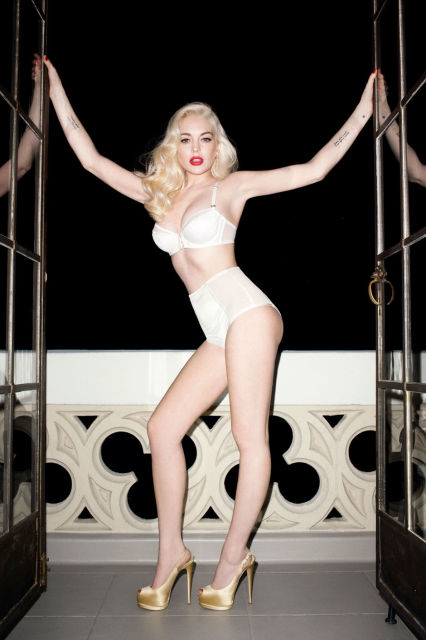 LINDSAY LOHAN BY TERRY RICHARDSON FOR LOVE MAGAZINE
