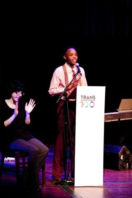 Keynote speaker, Dr. Kortney Ryan Ziegler [Photo by Andy Karol]
