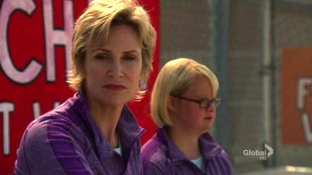 look becky. i'm jane lynch. i'm a badass motherfucker who can do no wrong, and this show does nothing but wrong, and i can't jive with that