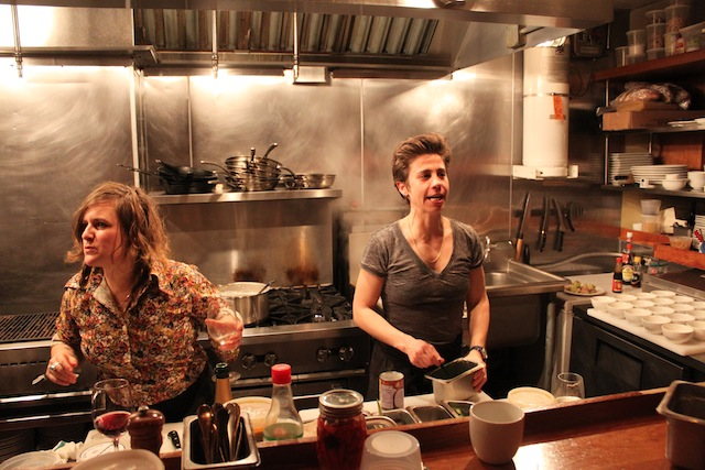 deanna and betsy in the kitchen at One Table
