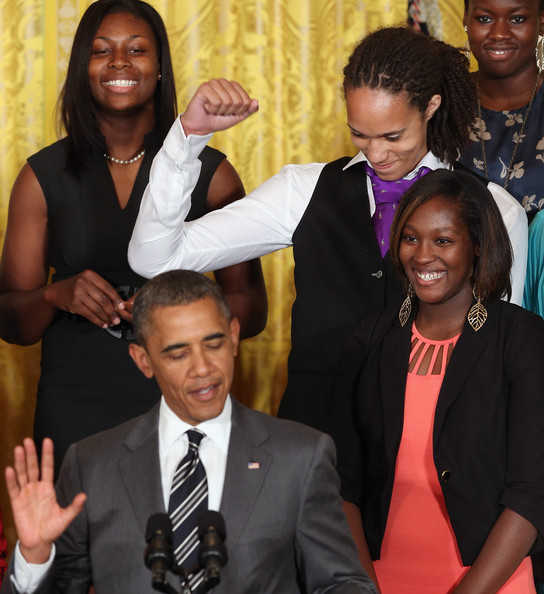 Griner at the White House