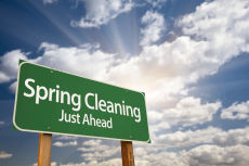 spring cleaning via shutterstock